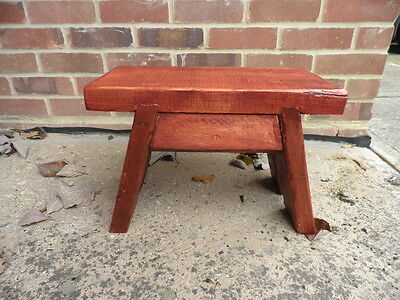 Handmade Wooden Footstool /Step Stool / made from reclaimed wood