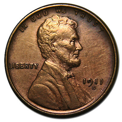 1911S One Cent Lincoln Head Penny Coin Lot# MZ 3469