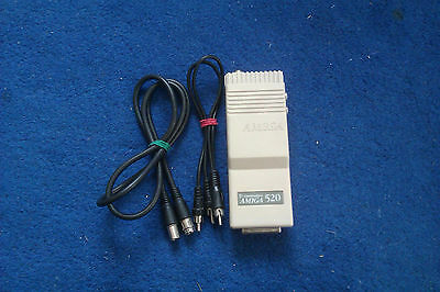 Amiga 500 - TV Video Modulator A520 + RF Lead + Y Cable