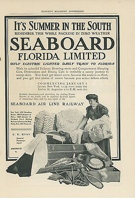 1905 Seaboard Air Line Railway Ad Florida Limited Summer in the South Railroad
