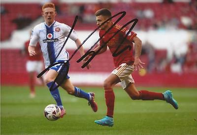 NOTTINGHAM FOREST: JAMIE PATERSON SIGNED 6x4 ACTION PHOTO+COA