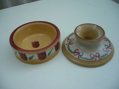 nicholas mosse x 2, butter/jam pat & small candle holder