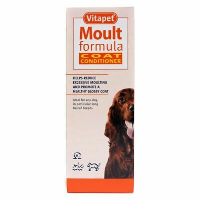 Vitapet Moult Formula Cat & Dog Coat Conditioner Stop Moulting 150ml 400ml 1.2 L