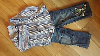 Boys Shirt And Jeans Bundle (Small) 2-3 3-4 Years Toy Story