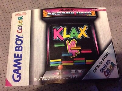 Klax Gameboy Colour *manual only*