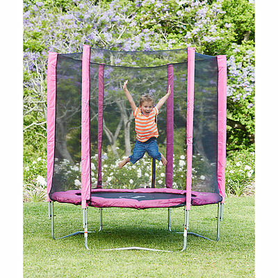New ELC Boys and Girls Plum 6ft Trampoline and Enclosure - Pink Toy From 3 years