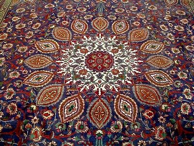 10X13 1940s MUSEUM MASTERPIECE HAND KNOTED SUPERB WOOL SAFI TABRIZ PERSIAN RUG