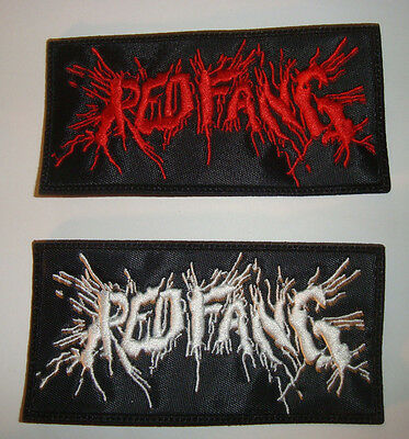 RED FANG - LOGO Embroidered PATCH  Kyuss Sleep Mastodon Baroness