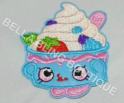 1 Embroidery Applique Girls Shopkins Iron On Sew On Patch Clothes