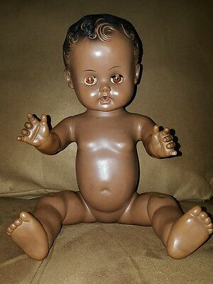 Vintage 1950s GORGEOUS Original Gerber Baby Doll SUN RUBBER Co. African American