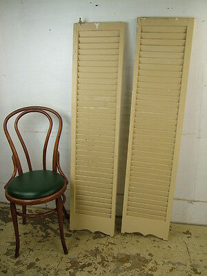 "Vintage 60s Louver Spring Shutters Swinging Saloon Doors Room Dividers 60"" Tall"