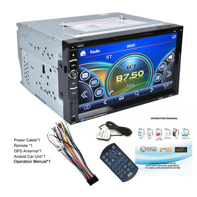 "Doppio din 6.2"" Navigatore Autoradio GPS Car HD DVD Player iPod MP3 TV CD USB SD"