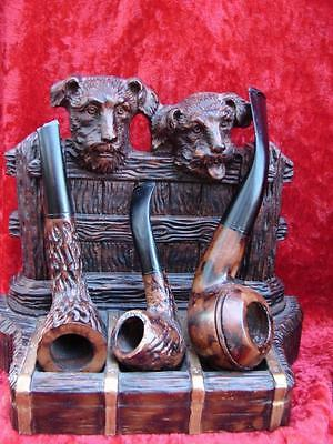 Dogs Faux Pipe rack BookendS , Handmade in US