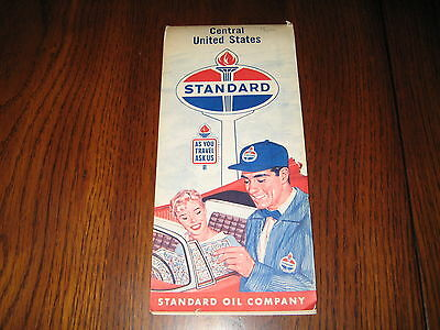 Vintage STANDARD OIL COMPANY Central United States Map
