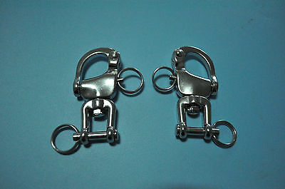 Pair Of 316 Stainless Steel Swivel Snap Shackle 3-1/2""