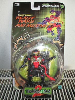 TRANSFORMERS Beast Wars Ani Mutants OPTIMUS MINOR Figur Hasbro 1999 NEU & OVP
