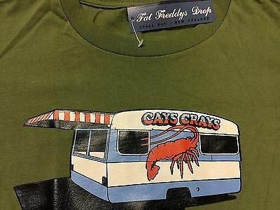 Fat Freddys Drop - Cays Crays - Rare  Lyall Bay Nz Rock T Shirt Size S 33  Bnwt