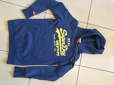 Girls/Boys Superdry Blue Hoody Size XS Great Condition