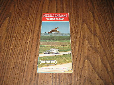 Vintage 1971 NEBRASKAland ROAD MAP AND TRAVEL GUIDE - CONOCO