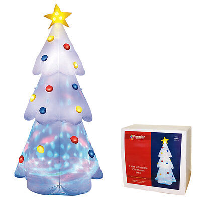 2.4m / 8ft BIG Inflatable Christmas Tree with Flashing Disco Lights In / Outdoor