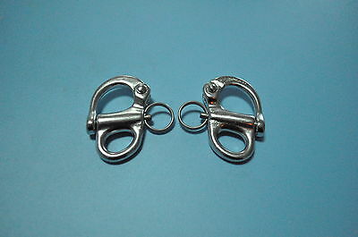 """Pair Of 316 Stainless Steel Fixed Snap Shackle 2-1/4"""""""