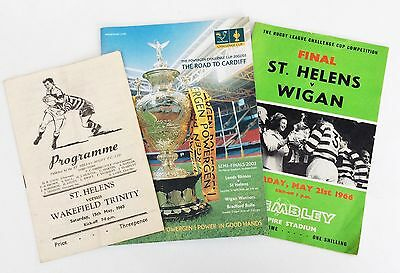 St Helens Rugby League Challenge Cup Programmes