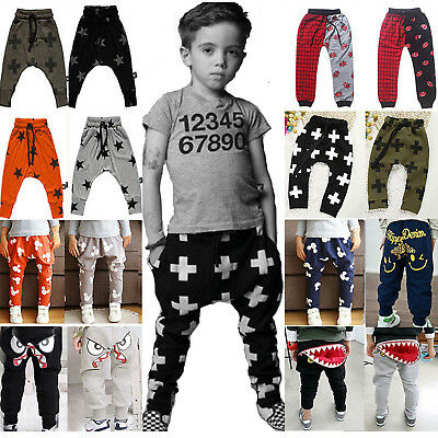 Newborn Infant Baby Boys Girls Jogger Bottom Harem Pants PP Leggings Trousers