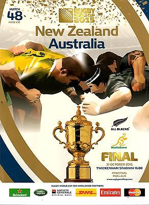 2015 Rugby World Cup Final Programme.  New Zealand v Australia.