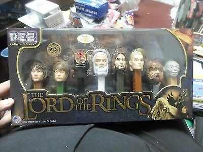 New The Lord Of The Rings Collector's Series Pez Dispenser 8-Pack Free Shipping
