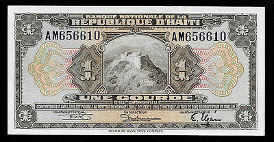 World Paper Money - Haiti 1 Gourde L.1919 (1967) P190  @ Crisp XF