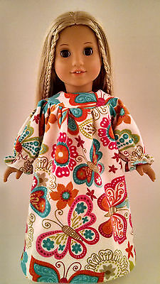 "18 inch Doll Clothes - Nightgown handmade to fit 18"" American Girl Dolls ng308f"