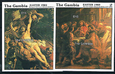 Gambia 1989 Easter MS SG 867 MNH