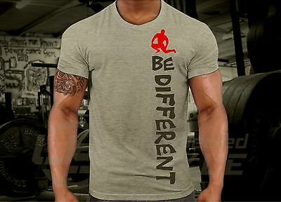 BE Different GYM T-shirt WOD Functional Training CrossFit Workout Strength mma 4