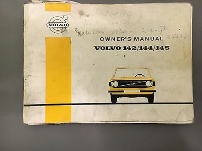 Volvo 140 Owners Handbook Instruction Manual 142 144 145 1973 My English