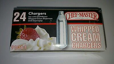 Chef Master N20 Whipped Cream Chargers 24 Chargers per pack