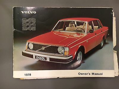 Volvo 240 Owners Handbook Instruction Manual 242 244 245 1978 My English