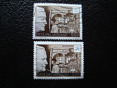 VATICAN - timbre yvert et tellier n° 1055 x2 obl (A28) stamp (Z)