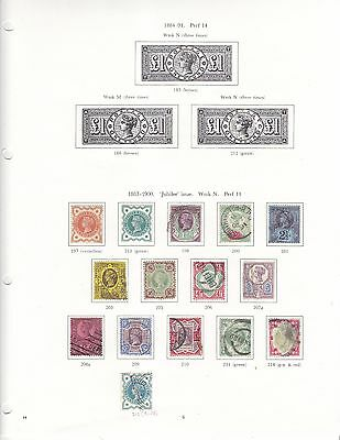 GB stamp collection - QV - GVI - on album pages - good run - mint / used