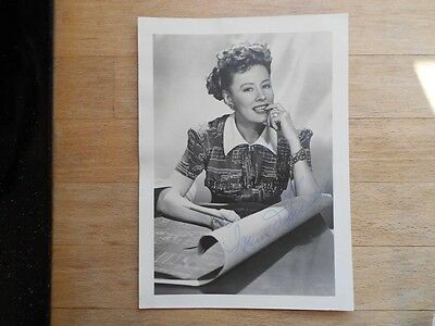 Irene Dunne actress signed photo 1940s, real hand autograph, large size