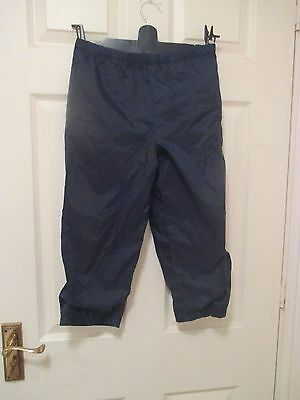 Navy padded (shower proof?) trousers age 5?