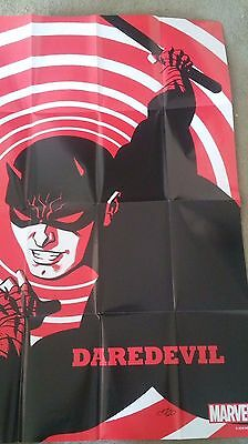 "DAREDEVIL  (24"" x 36"" MARVEL FOLDED PROMO POSTER , 2016) NEW"