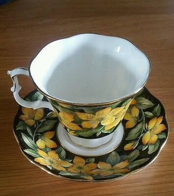 RARE Royal Albert cup and saucer rose of sharon bouquet series