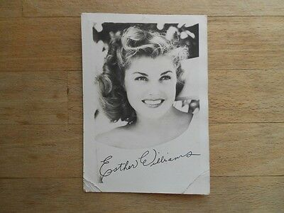 Esther Williams actress swimmer signed (printed) postcard photo 1948 - MGM
