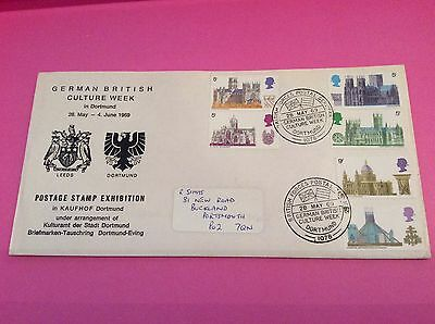 FIRST DAY COVER 28th MAY 1969 BRITISH ARCHITECTURE MUST SEE PIECE