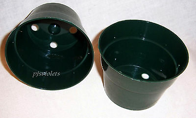 50 - 4 inch Green Plastic Flower Pots Made in the USA