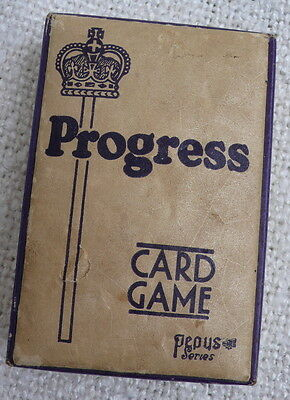 True vintage Progress card game – complete deck with box