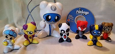 8 FUNKEYS UB Lot by Radica INTERACTIVE GAME PIECES, CD & DOCKING STATION FIGURE
