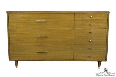 "RWAY Mid Century Modern Spanish Brown 53"" Dresser Chest"