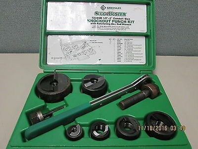 Greenlee 7238SB Slug Buster Knockout Punch Set with Wrench Driver
