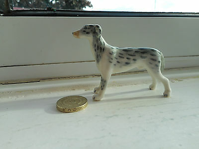 Greyhound - Beautiful Miniature Pottery Standing Greyhound Or Whippet Dog